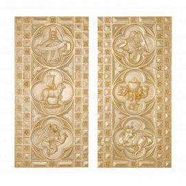 Tabernakulum gotyckie, złocone - 60x55 cm