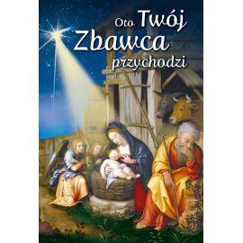 Plakat Bożonarodzeniowy - Oto Twój Zbawca przychodzi