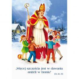 Plakat Bożonarodzeniowy - Więcej szczęścia jest w dawaniu aniżeli w braniu