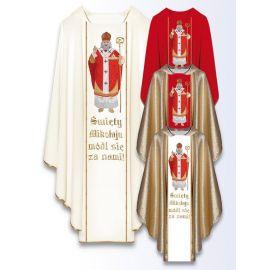 Ornat z wizerunkiem św. Mikołaja