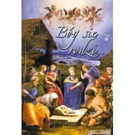 Plakat Bożonarodzeniowy - Bóg się rodzi…