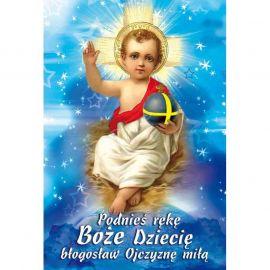 Plakat Bożonarodzeniowy - Podnieś rękę Boże Dziecię błogosław ojczyznę miłą