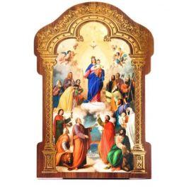 Obrazek HDF ze złotą ramką Matka Boża Wspomożycielka