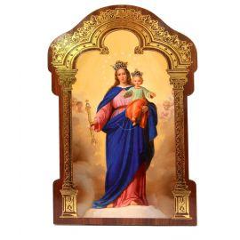 Obrazek HDF z złotą ramką Matka Boża Wspomożycielka (2)