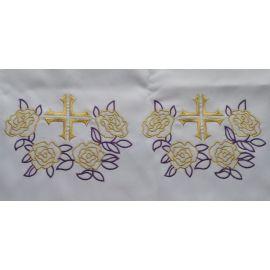 Obrus ołtarzowy haftowany - wzór eucharystyczny (210)