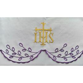 Obrus ołtarzowy haftowany - wzór eucharystyczny (211)