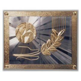 Tabernakulum mosiężne Baranek + kłos z wystawieniem Najświętszego Sakramentu  (41)