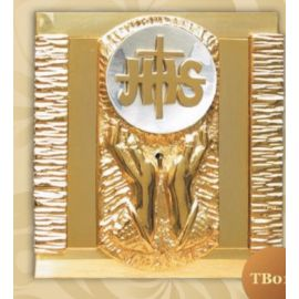 Tabernakulum mosiężne IHS + Dłonie (45)
