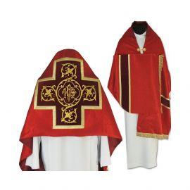 Welon liturgiczny czerwony z frędzlami (41)