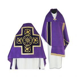Welon liturgiczny fioletowy z frędzlami (42)