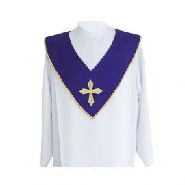Szkaplerz ministrancki złoty haft, gabardyna (kolory liturgiczne)