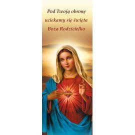 """Baner Najświętsze Serce Maryi """"Pod Twoją obronę uciekamy się"""""""