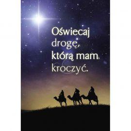 Plakat Bożonarodzeniowy - Oświecaj drogę którą mam kroczyć