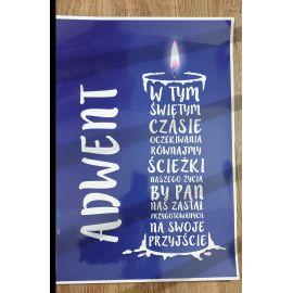 Plakat Adwent - W tym świętym czasie...