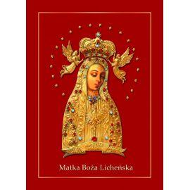Matka Boża Licheńska - Ikona dwustronna format A5