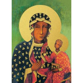 Matka Boża Częstochowska - Ikona dwustronna format A5
