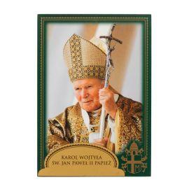 Święty Jan Paweł II Papież - Ikona dwustronna z modlitwą format A5 (2)
