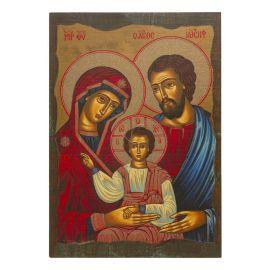 Święta Rodzina - Ikona - Pamiątka rocznicy Małżeństwa - format A4 (brokat)