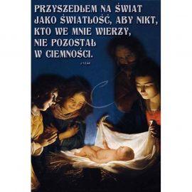 Plakat Bożonarodzeniowy - Przyszedł na świat jako światłość