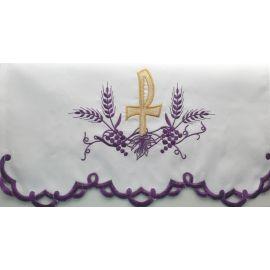 Obrus ołtarzowy haftowany - wzór eucharystyczny (215)