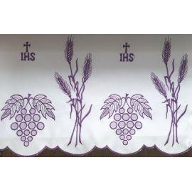 Obrus ołtarzowy haftowany - wzór eucharystyczny (216)