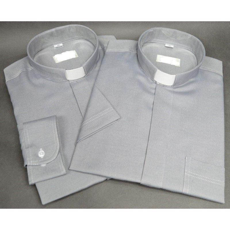Koszula kapłańska typu oxford (38-46) - spinki