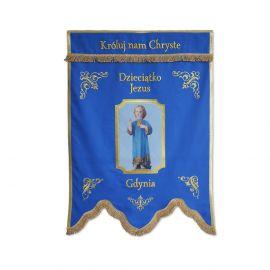 Przykładowa chorągiew kościelna z wizerunkiem drukowanym (2)