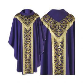 Ornat semi gotycki fioletowy - tkanina gładka (60)