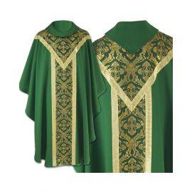 Ornat semi gotycki zielony - tkanina gładka (62)