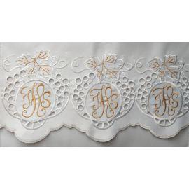 Obrus ołtarzowy haftowany - wzór eucharystyczny (219)