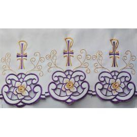 Obrus ołtarzowy haftowany - wzór eucharystyczny (221)