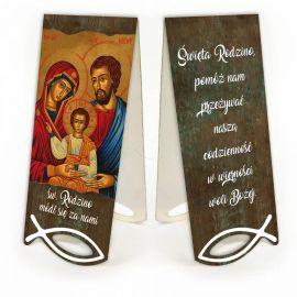 Święta Rodzina - Zakładka papierowa z magnesem