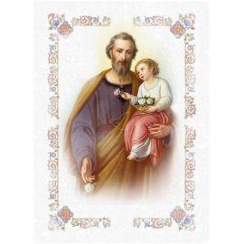Święty Józef - Ikona dwustronna z modlitwą format A5 (2)