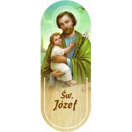 Święty Józef - Zakładka półokrągła syntetyczna