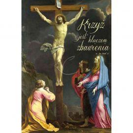 Plakat Wielkanocny - Krzyż jest kluczem zbawienia