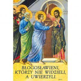 Plakat Wielkanocny - Błogosławieni którzy nie widzieli a uwierzyli