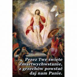 Plakat Wielkanocny - Przez Twe święte zmartwychwstanie
