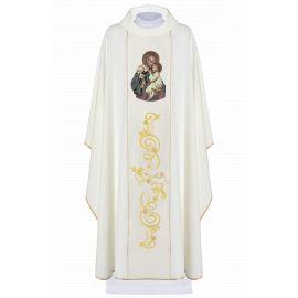 Ornat haftowany z wizerunkiem Świętego Józefa (3)