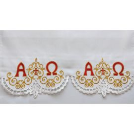 Obrus ołtarzowy haftowany - Alfa Omega (76)