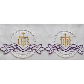 Obrus ołtarzowy haftowany - Krzyż IHS (71)