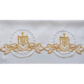 Obrus ołtarzowy haftowany - wzór eucharystyczny (127)