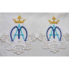 Obrus ołtarzowy haftowany - wzór Maryjny (98)