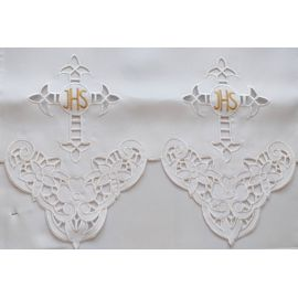 Obrus ołtarzowy haftowany - wzór eucharystyczny (96)