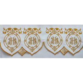 Obrus ołtarzowy haftowany - wzór eucharystyczny (92)