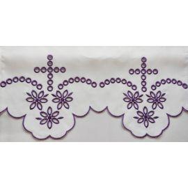 Obrus ołtarzowy haftowany - wzór eucharystyczny (223)