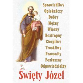 Plakat religijny Święty Józef