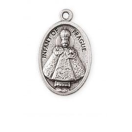 Medalik metalowy Dziecko Praskie