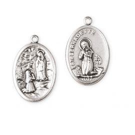 Medalik metalowy Matka Boża z Lourdes