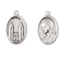Medalik metalowy Matka Boża z Medziugorie