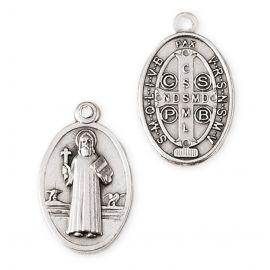 Medalik metalowy Święty Benedykt